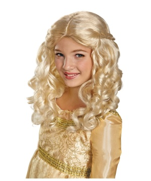 Kids Maleficent Aurora Wig