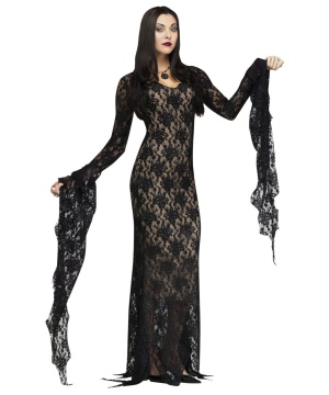 Lace Morticia Addams Womens Costume