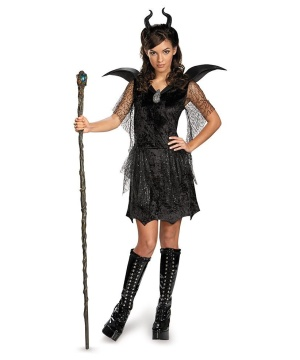Maleficent Black Gown Teen Costume deluxe