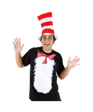 Mens Cat in the Hat Costume Kit