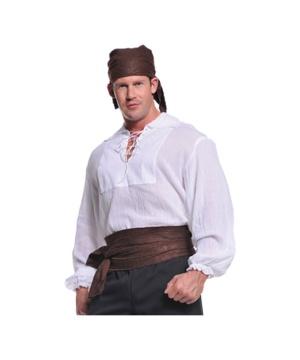 Mens Cream Pirate Shirt