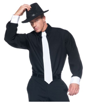 mens gangster shirt - Halloween Mobster Costumes