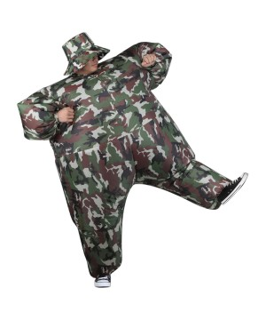 Mens Inflatable Camosuit Costume