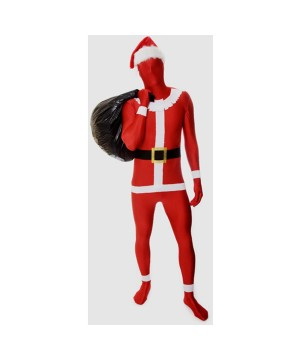 Mens Santa Claus Morphsuit Costume