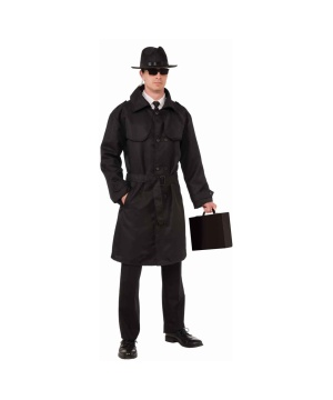 Mens Secret Spy Trench Coat