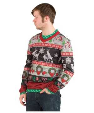 Mens Ugly Christmas Costume Shirt