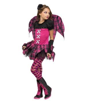 Pink Punky Fairy Girls Costume
