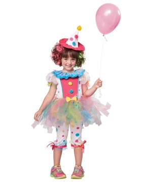 Rainbow Clown Cutie Toddler Girls Costume