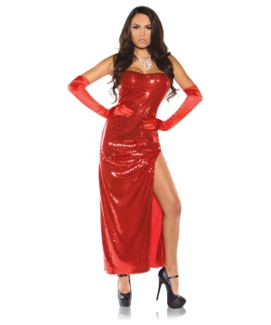 Red Sequin Womens Costume