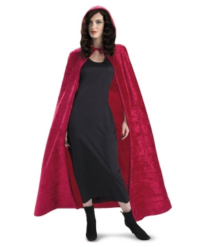 Ruby Red Hooded Cape