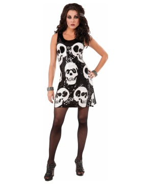 Sequin Skull Womens Dress