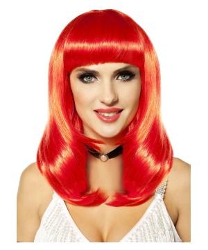 So Fine Neon Red Wig