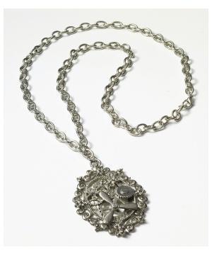 Steampunk Gears Silver Necklace