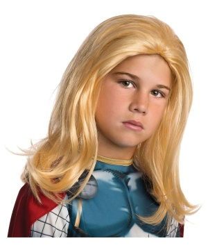 Thor Costume Wig for Kids