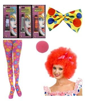 Women Clown Costume Kit