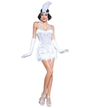Womens 20s Silver Flapper Costume