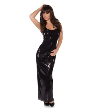 Womens Black Sequin Dress