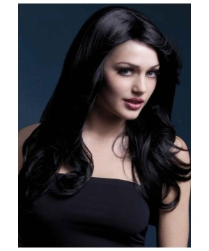 Womens Black Vampire Wig
