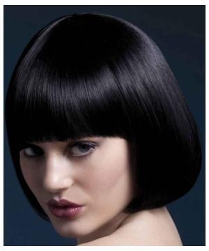 Womens Bobbed Black Wig