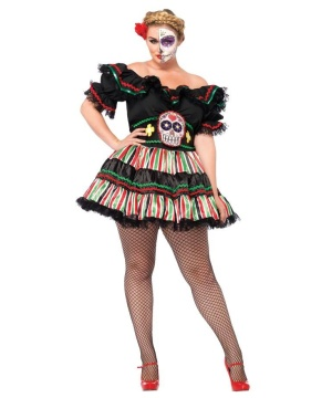 Womens Day of the Dead Costume plus size
