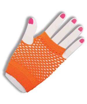 Womens Fingerless Fishnet Gloves