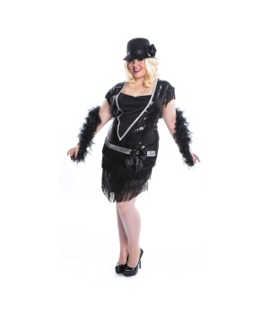 Womens Flapper plus size Costume