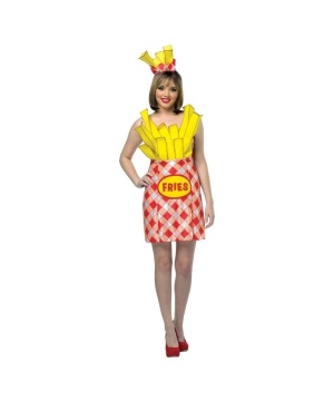 Womens French Fries Dress Costume
