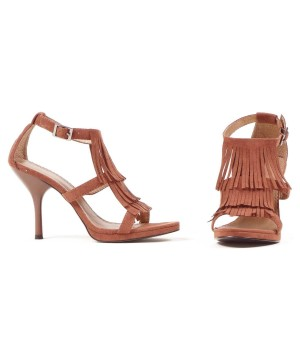 Womens Fringe High Heel Shoes for