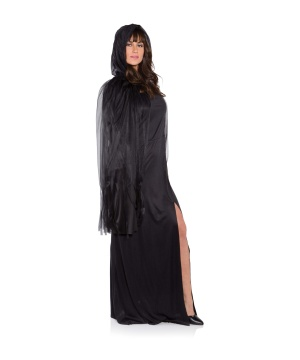 Womens Ghost Black Cape