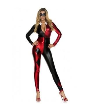Womens Harley Quinn Catsuit Costume