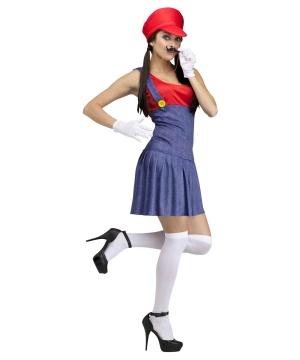 Womens Mario Plumber Costume