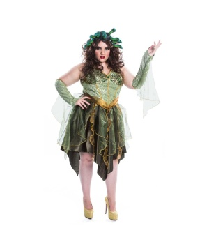 Womens Medusa plus size Costume