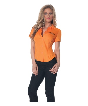 Womens Orange Prisoner Shirt