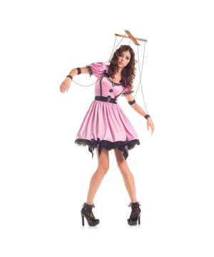 Womens Pink Marionette Costume