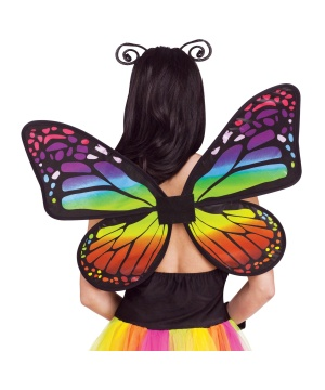 Womens Rainbow Butterfly Wings