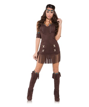 Womens Raven Indian Costume