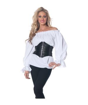 Womens Renaissance Blouse Costume White