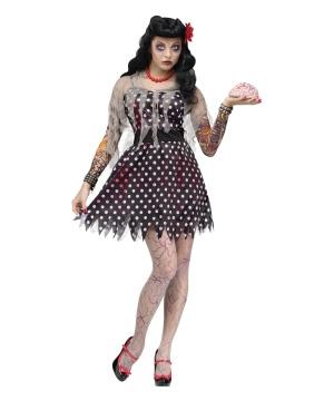 Womens Rockabilly Zombie Costume
