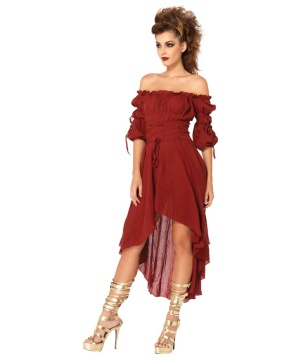 Womens Rust Peasant Costume