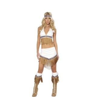 Womens Wolf Hunter Indian Costume