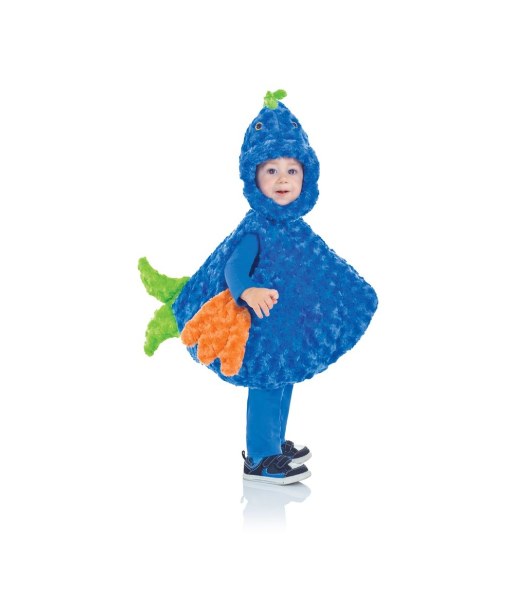 Big mouth blue fish toddler costume for Kids fish costume