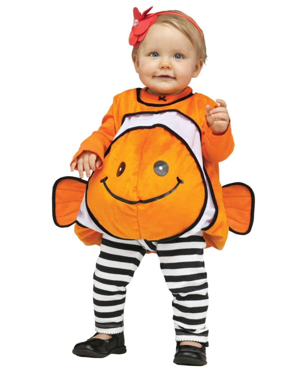 Giddy clownfish baby costume for Baby fish costume