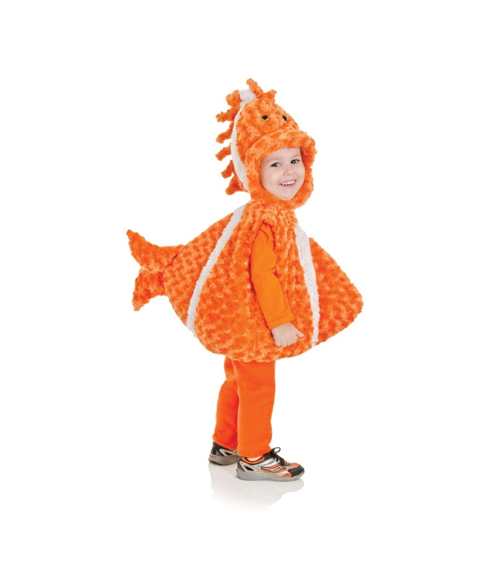 Big mouth clown fish toddler costume for Kids fish costume