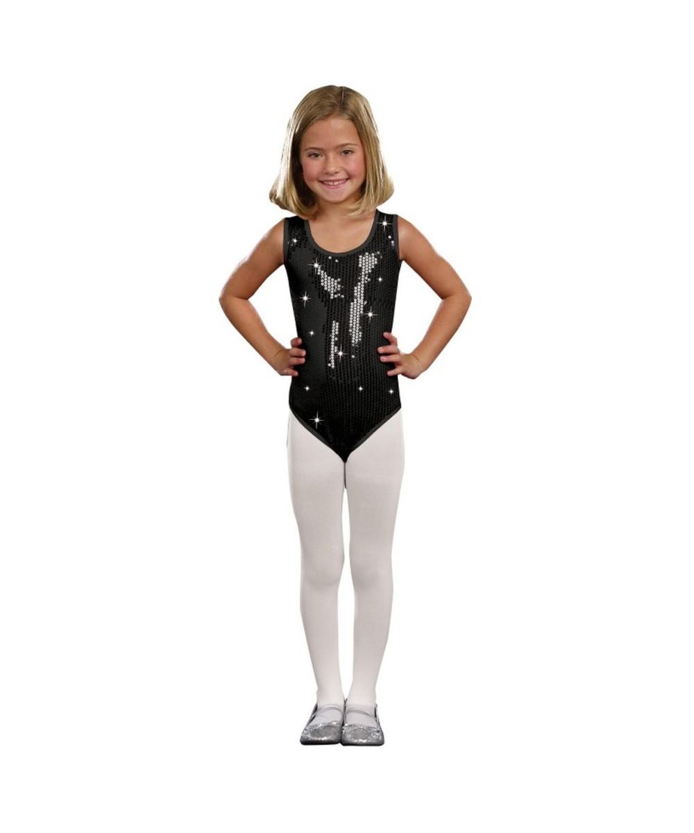 Black Sequin Girls Leotard Girls Costume