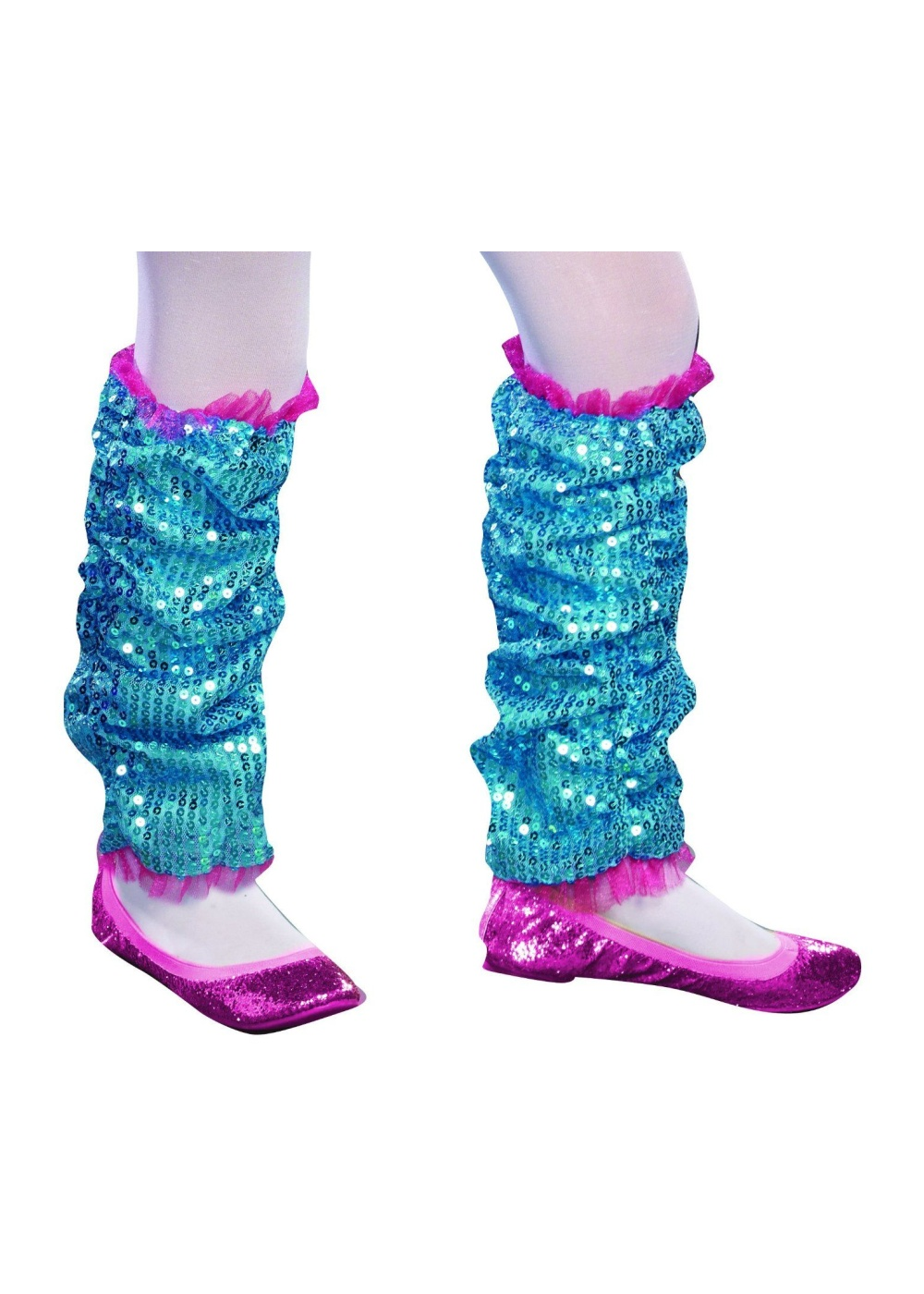 Dance Craze Girls Leg Warmers Turquoise - Girls Costume