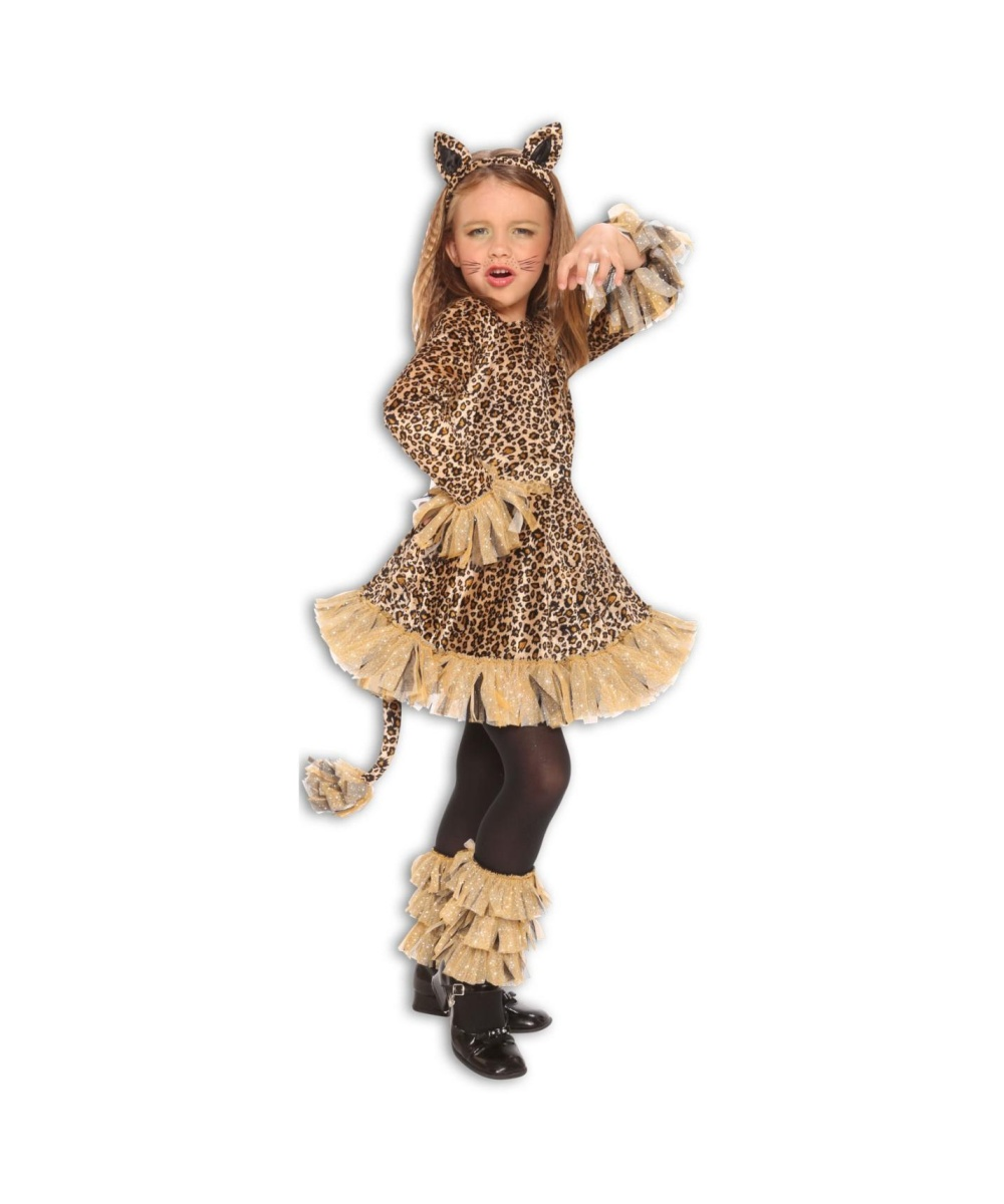 Lovely Leopard Girls Costume - Animal Costumes