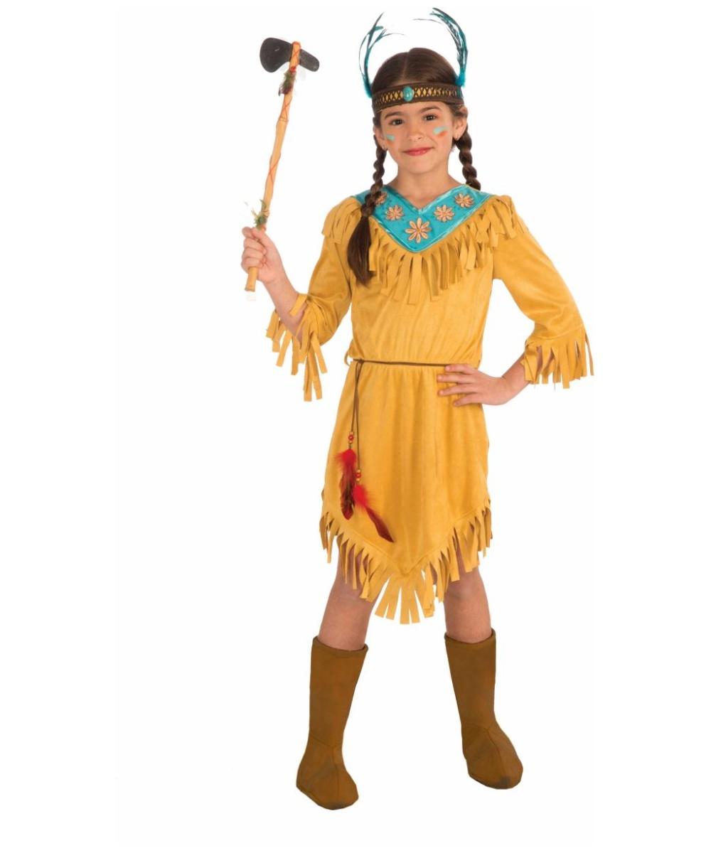 Girls Native American Little Flower Costume - Girls Indian Costumes