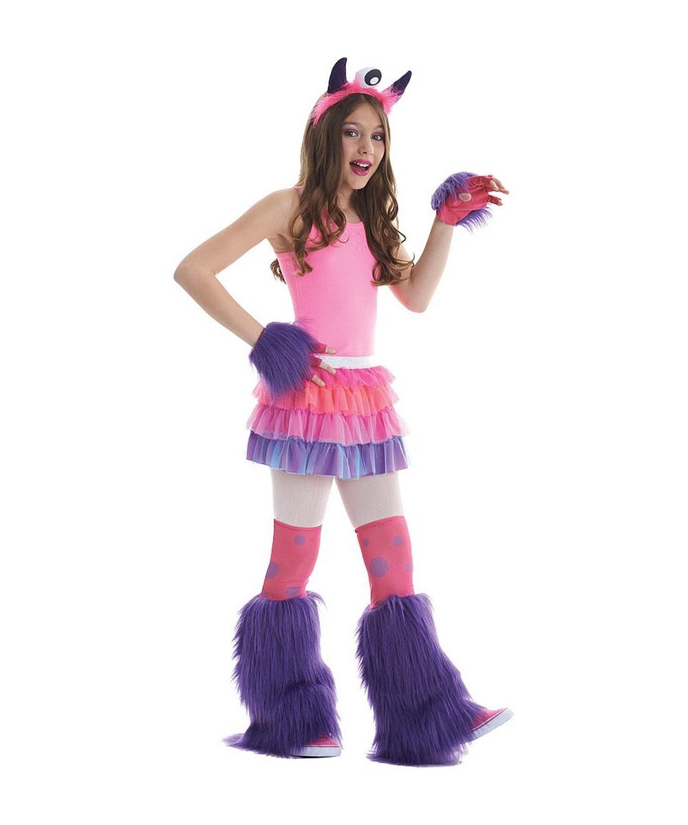 girls Fuzzy fifi monster costume