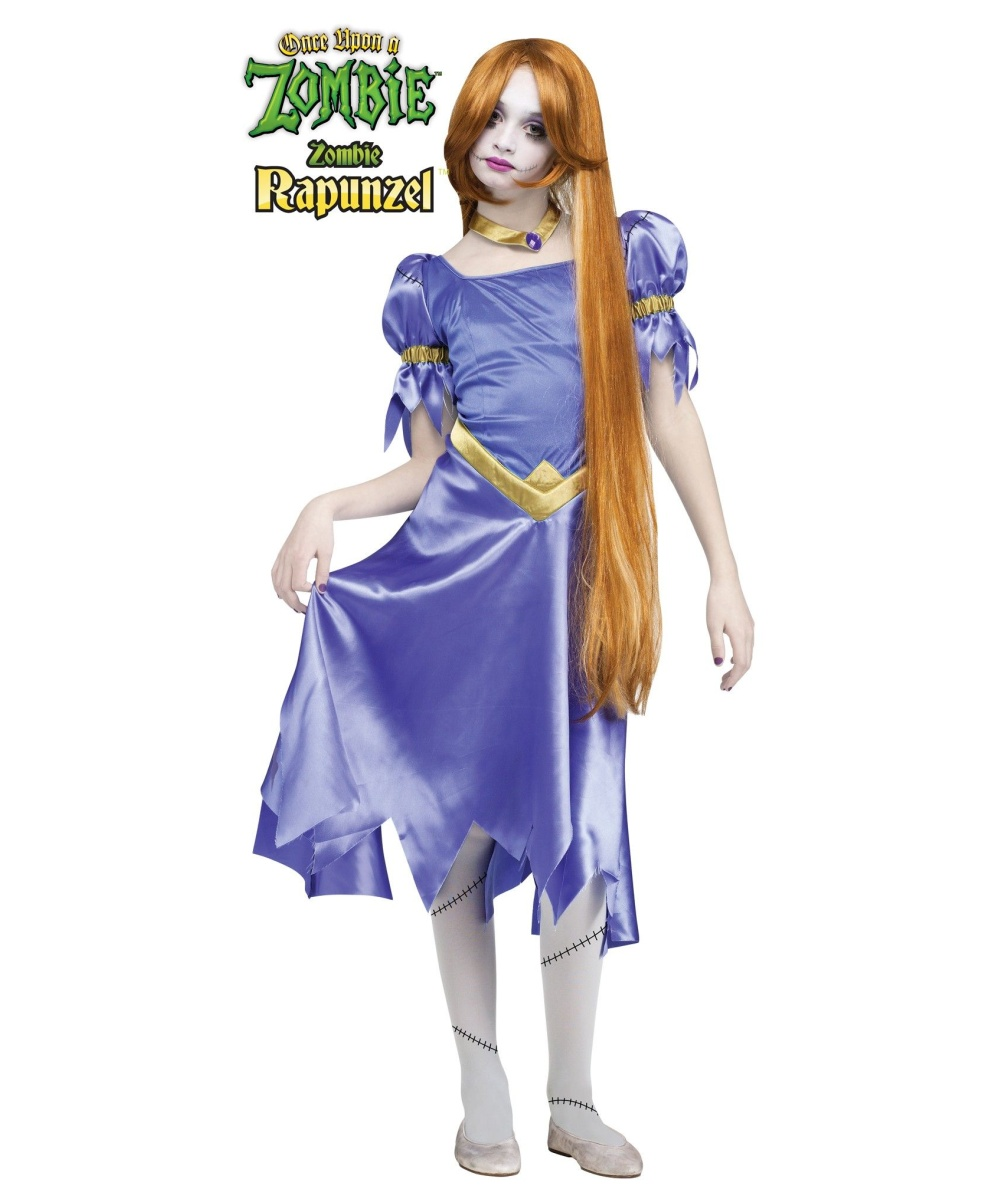 Halloween Zombie Costumes For Girls Girls Zombie Rapunzel Costume