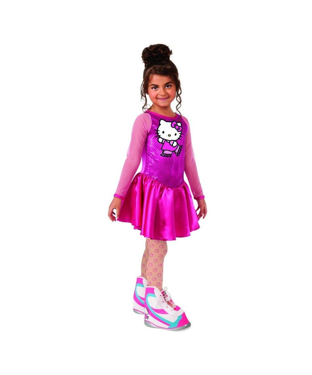 Hello Kitty Figure Skater Girls Costume - Girls Costume